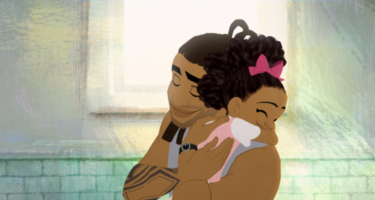 """Hair Love"" is an animated film about an African American father faced with a daunting task: doing his daughter's hair. (Courtesy of ShortsTV)"