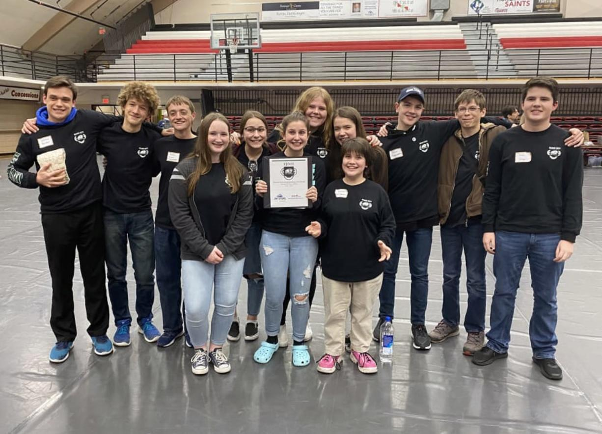 WOODLAND: The Beaver Bots' Inspire Award qualified them to participate in state finals.