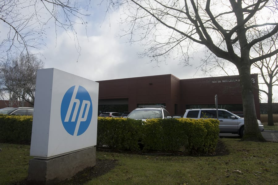 The Hewlett-Packard facility in Columbia Tech Center is seen Monday morning, Dec. 9, 2019.