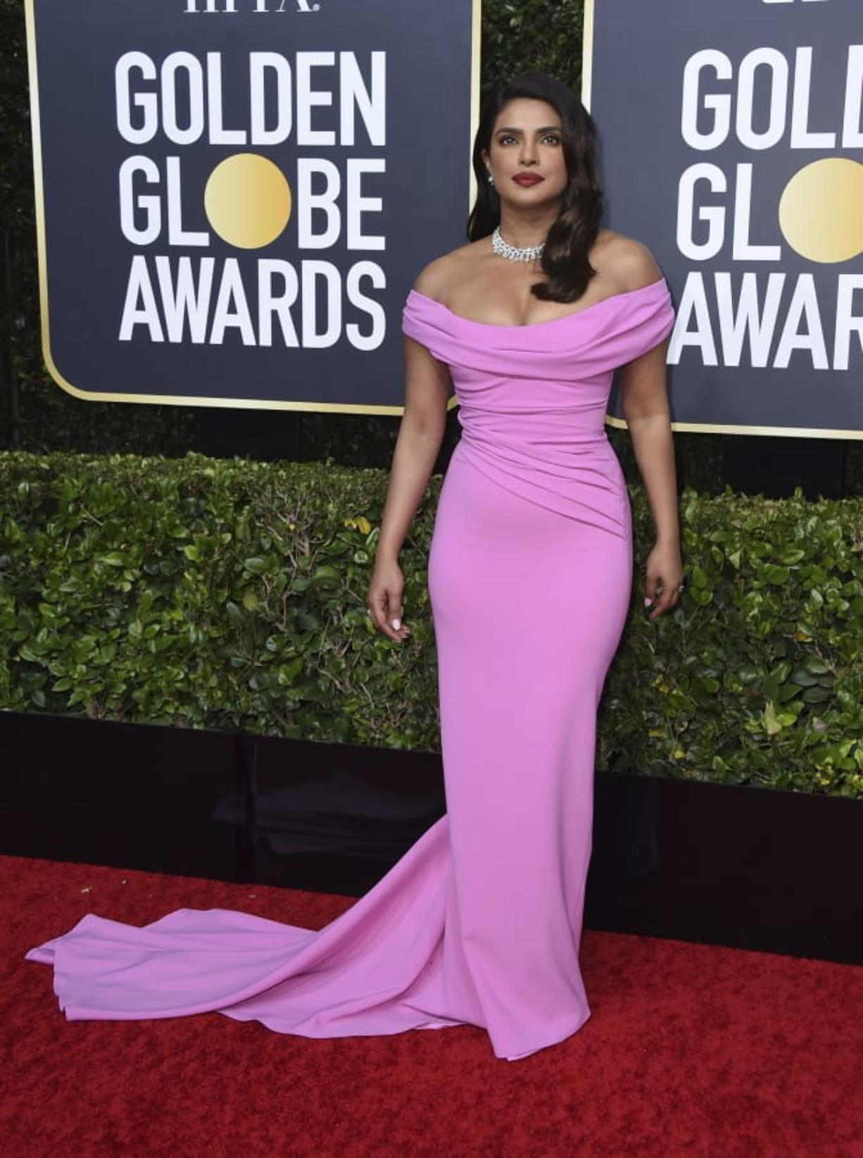 "Priyanka Chopra Jonas arrives at the 77th annual Golden Globe Awards at the Beverly Hilton Hotel on Jan. 5 in Beverly Hills, Calif. She is joining the U.S. cast of ""Citadel."" (Jordan Strauss/Invision)"