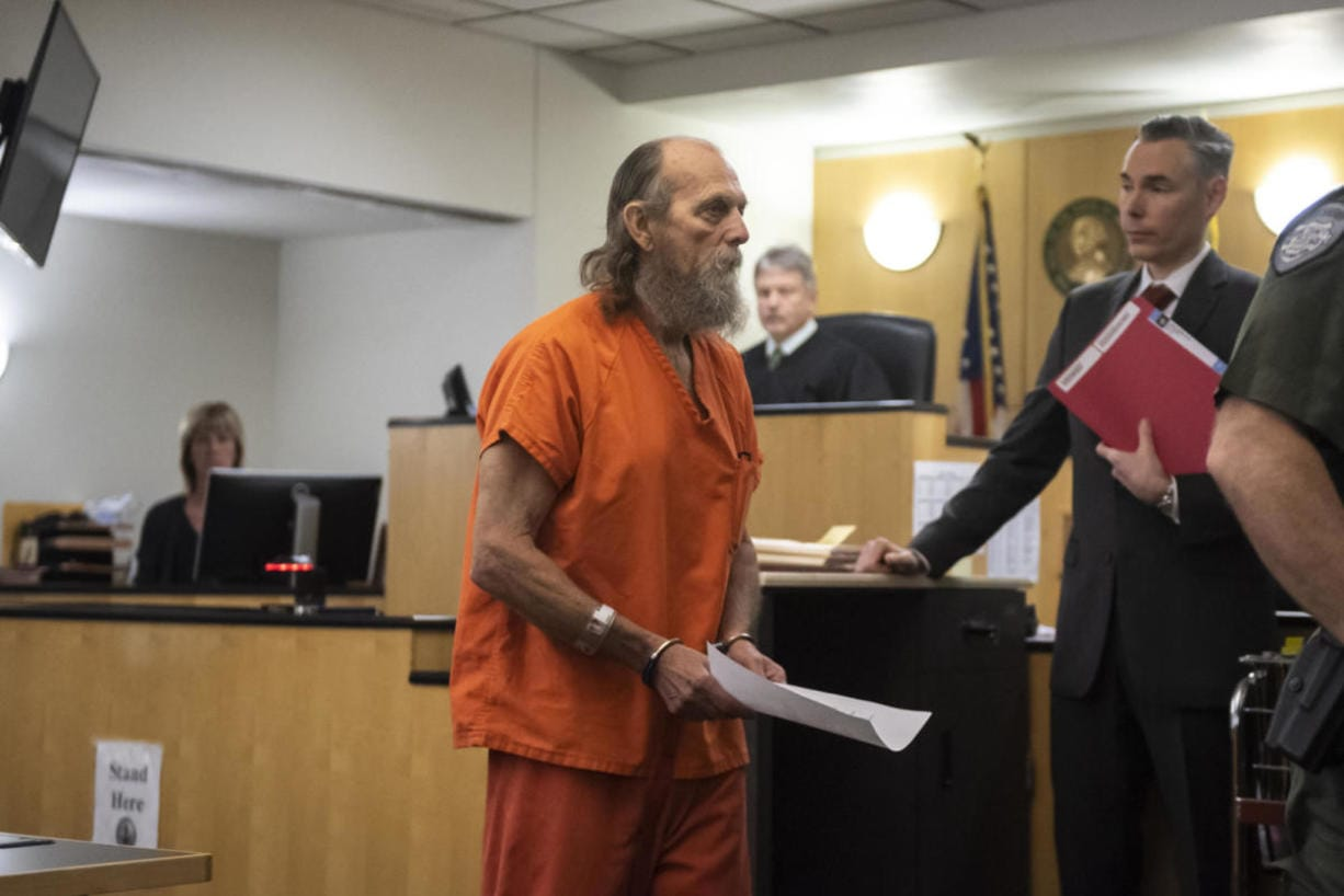 Suspected serial killer Warren Forrest was in Clark County court Monday to face a new murder allegation in the death of 17-year-old Martha Morrison. (Nathan Howard/The Columbian)