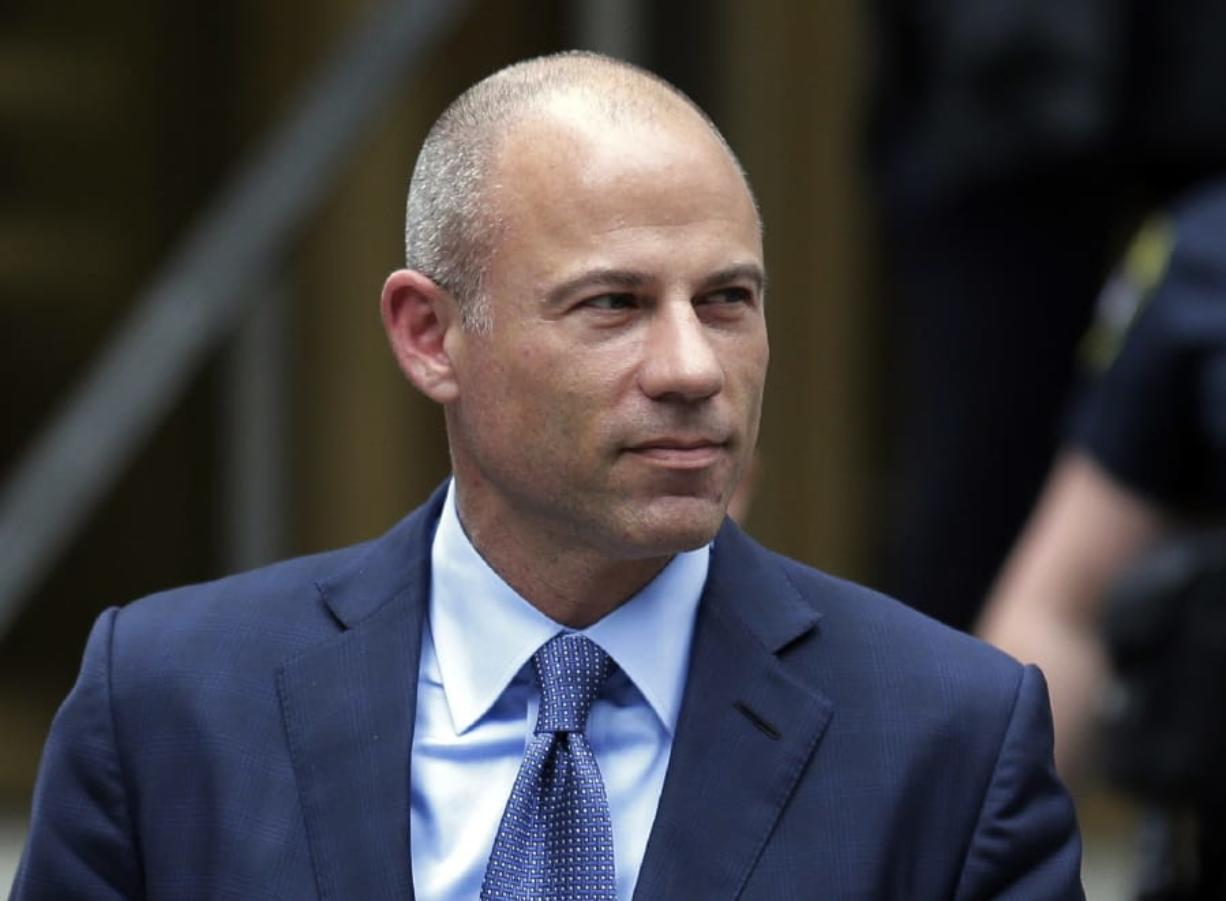 FILE - In this May 28, 2019, file photo, California attorney Michael Avenatti leaves a courthouse in New York following a hearing. Avenatti has been rearrested for alleged bail violations, prosecutors in New York told a judge late Tuesday, Jan. 14, 2020.