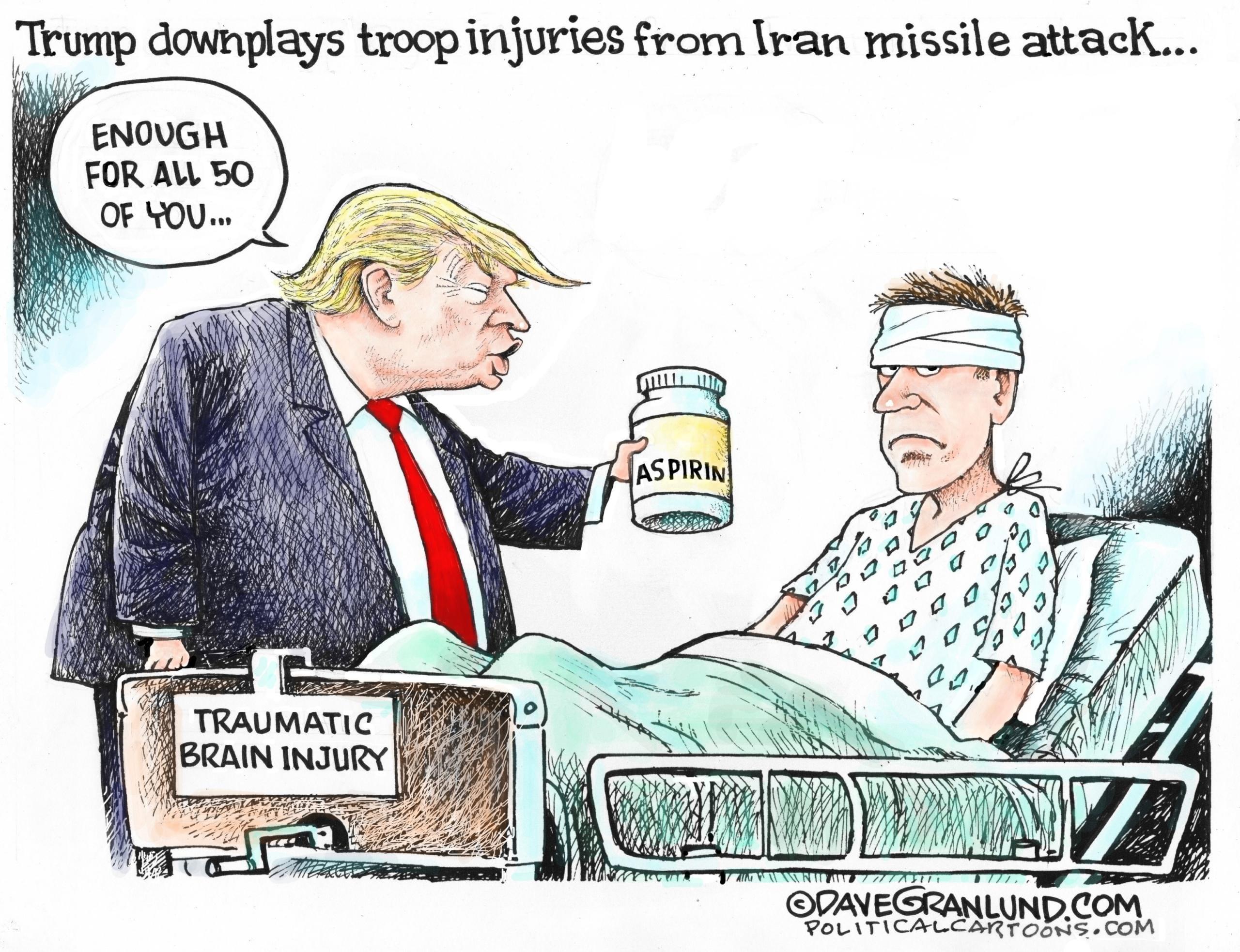 Feb. 1: Trump With Aspirin
