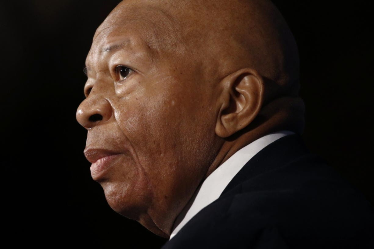 Rep. Elijah Cummings, D-Md., speaks Aug. 7 during a luncheon at the National Press Club in Washington. Cummings died from complications of longtime health challenges, his office said in a statement on Oct. 17. (Associated Press files)