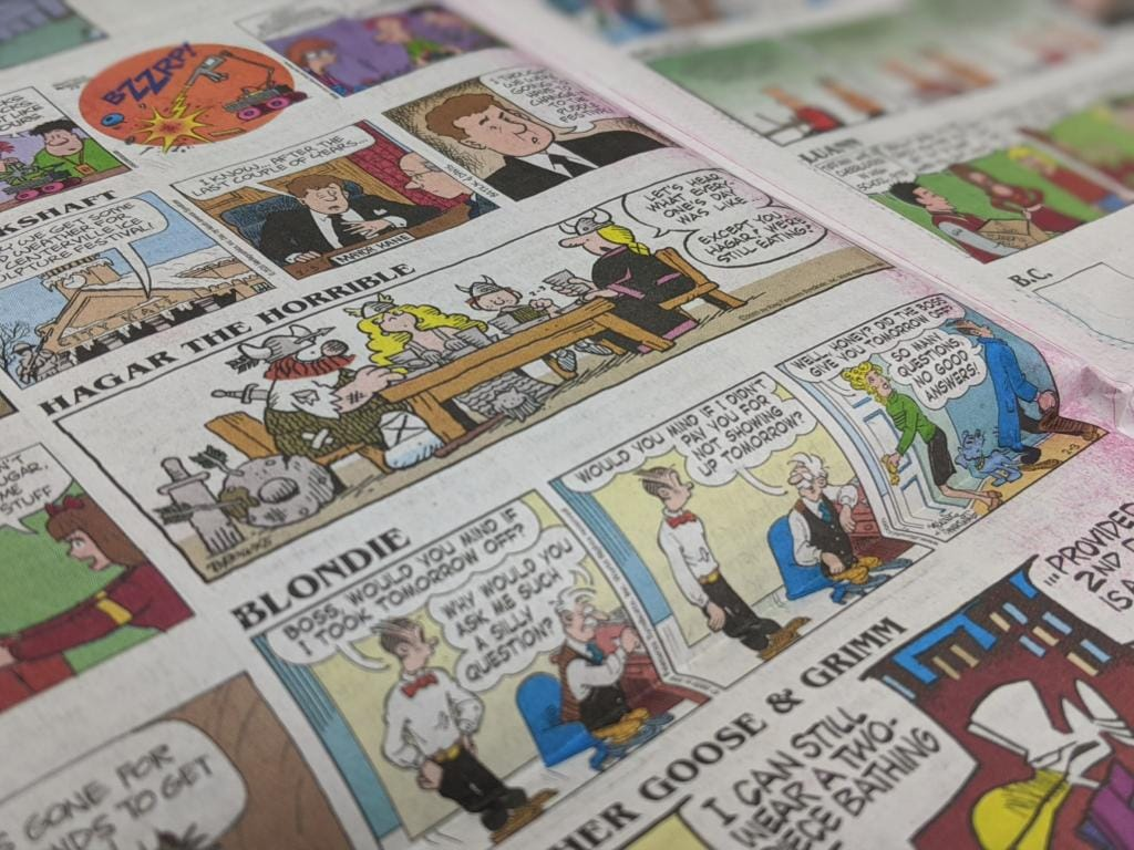 Two pages of comic strips run in the Tuesday paper. (The Columbian)