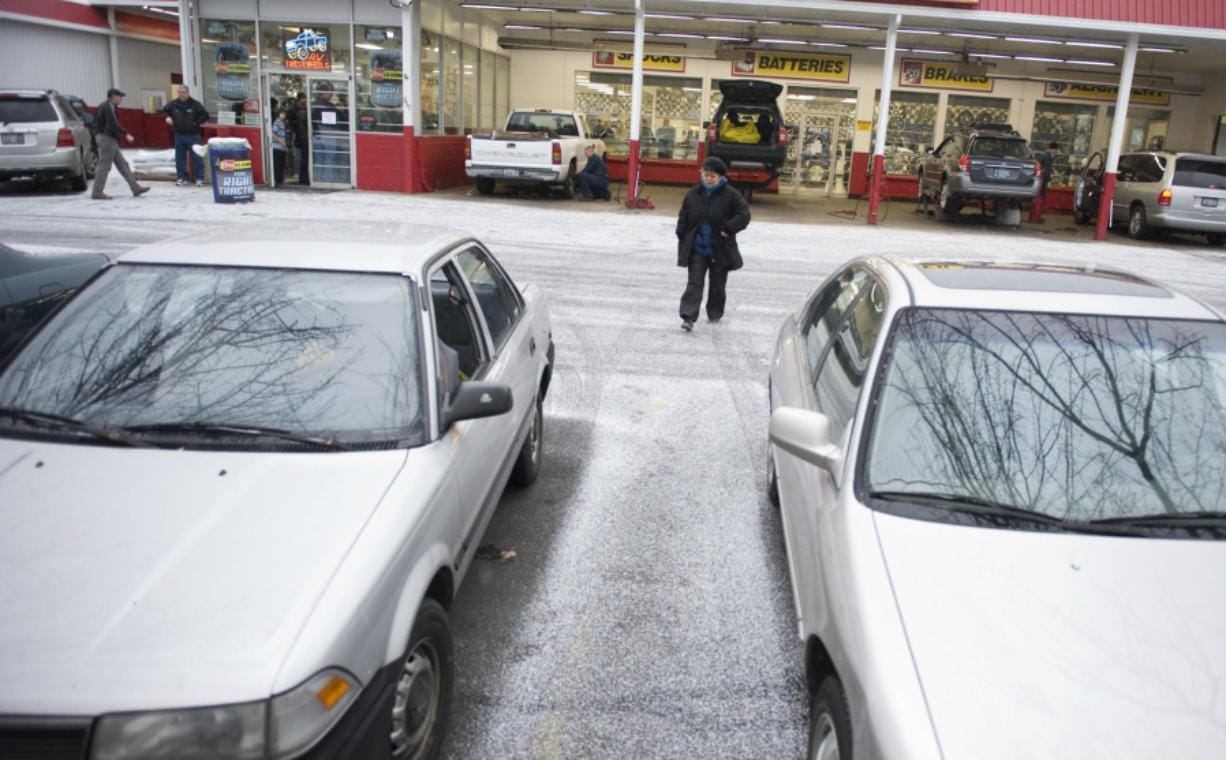 Les Schwab Tires  near Highway 99 in Vancouver bustles with customers, most of which are looking for tire chains and snow tires because of an impending winter storm heading in to the area on December 17, 2008. (The Columbian files)