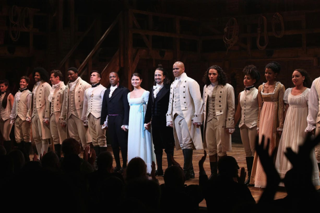 The cast of Hamilton performs the show's Broadway Opening Night at Richard Rodgers Theatre  in 2015 in New York City. (Neilson Barnard/Getty Images)