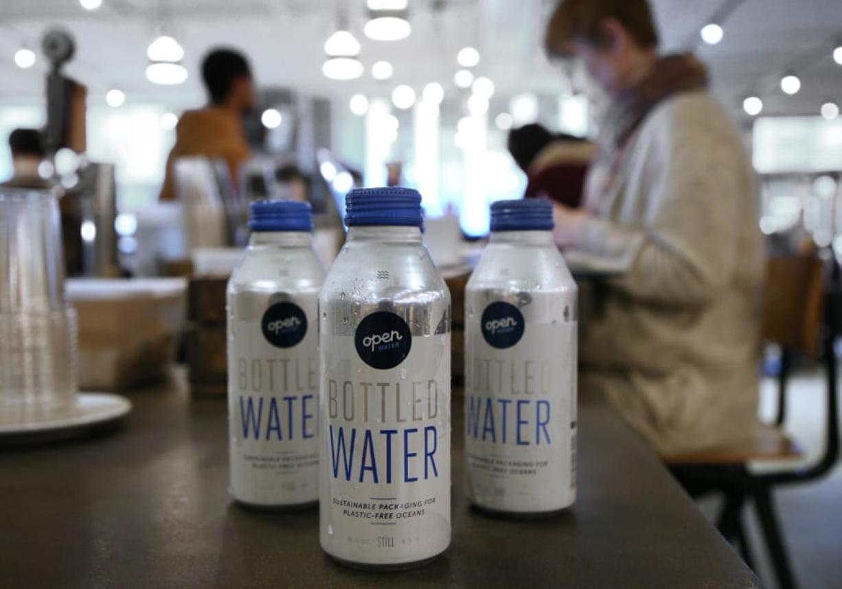 Revival Food Hall sells Open Water exclusively as its packaged water. The water is packaged in aluminum bottles instead of plastic.