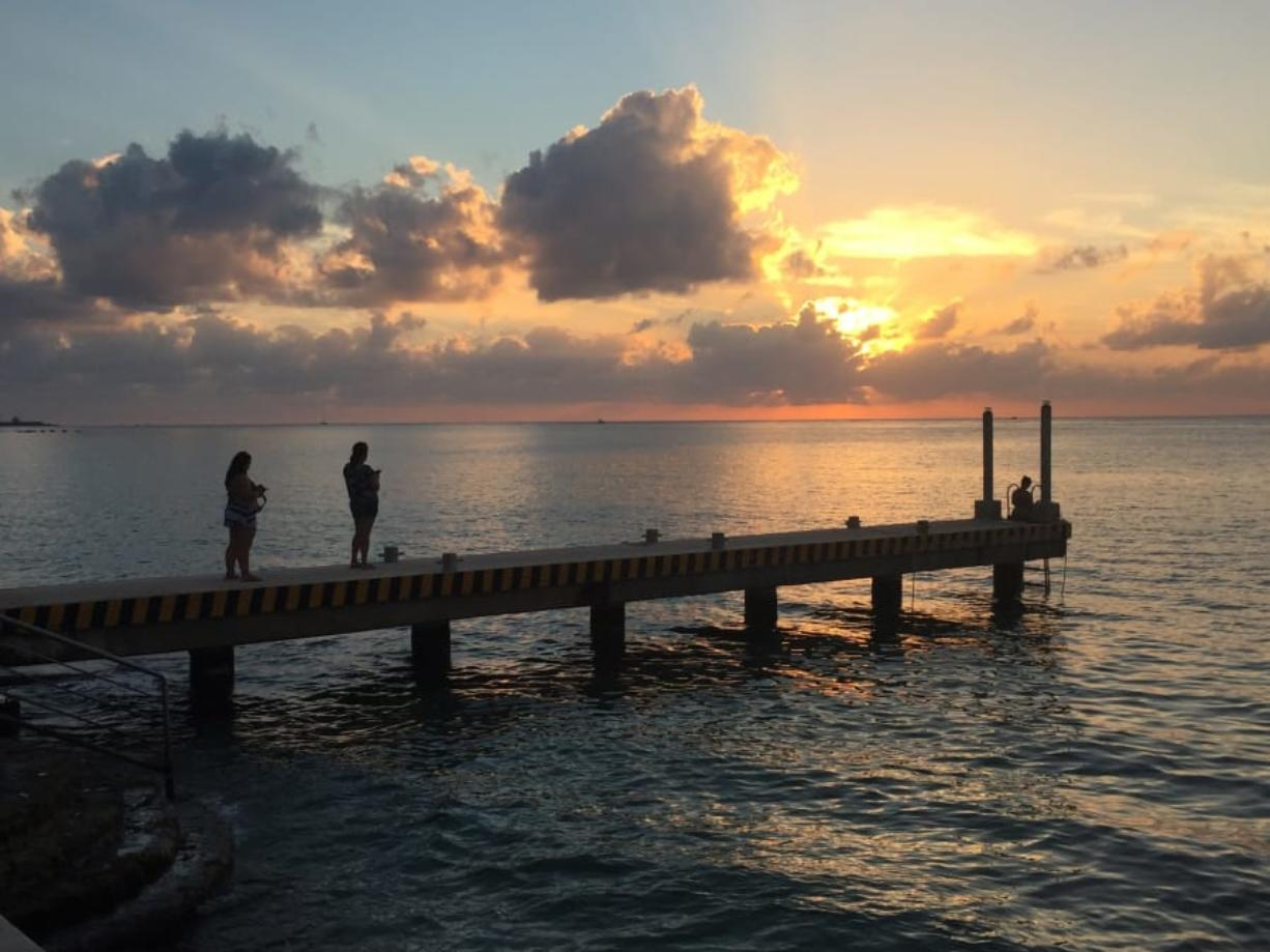 Cozumel is one of the most popular ports in the Caribbean. It features fantastic sunsets.