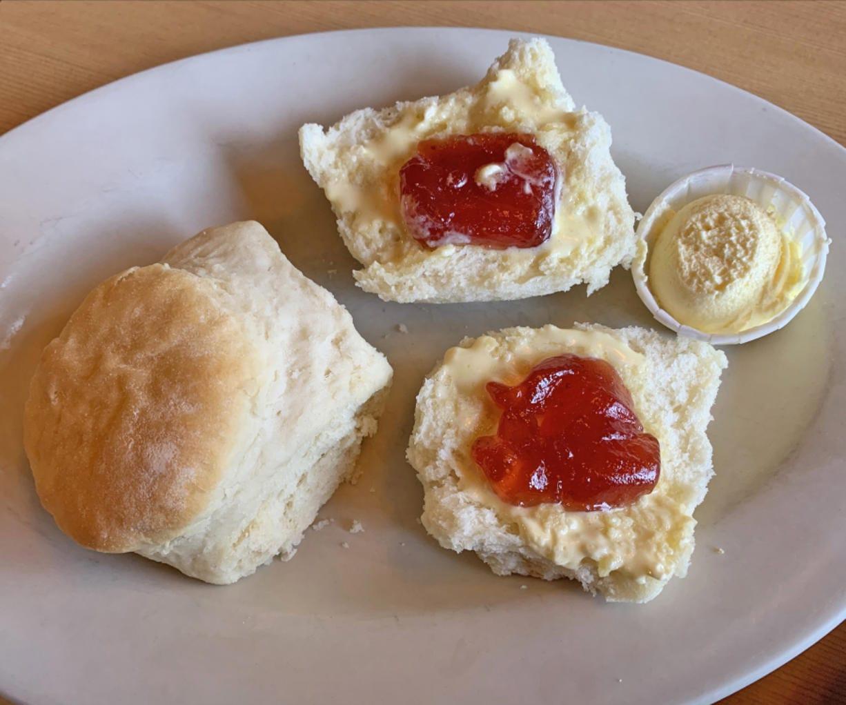 Side order of biscuits at Hockinson Cafe.