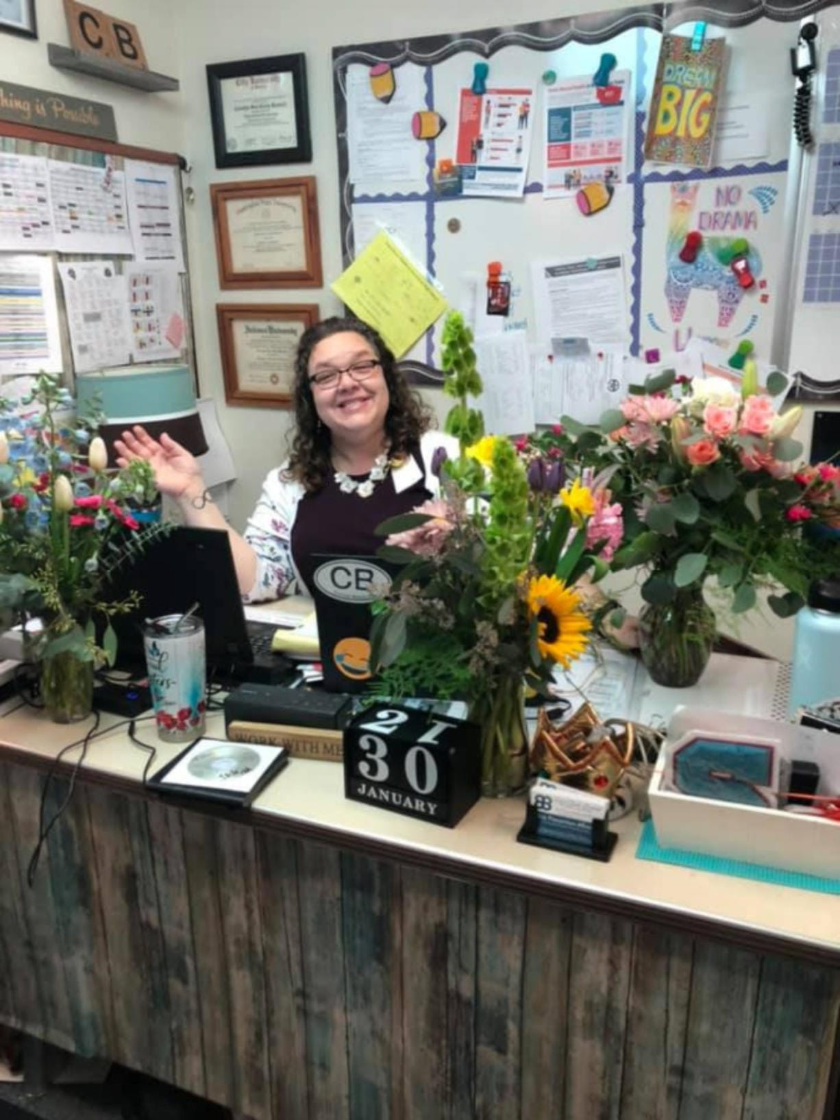 """Carolyn """"Suz"""" Clark-Bennett died Tuesday evening in a two-vehicle collision on Northeast 78th Street in Hazel Dell. Clark-Bennett was an associate principal at Wind River Middle School and Stevenson High School."""