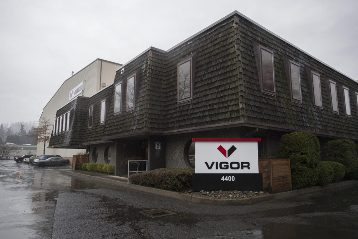 Vigor is seeking a dredging permit to maintain the access channel to a launching marina near its Vancouver facility. The company took over the former Christensen Shipyards building last year.