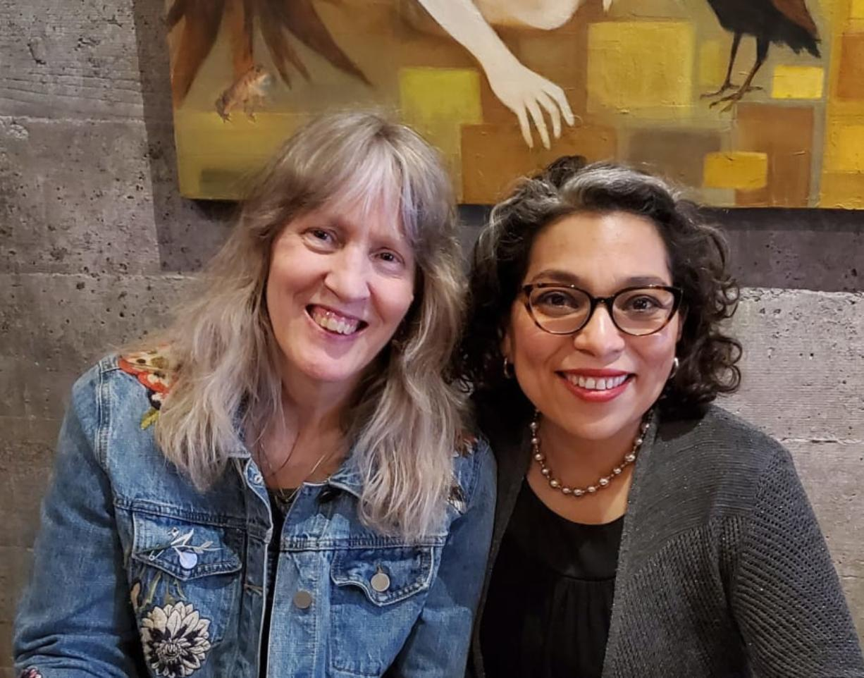Gwendolyn Morgan, left, is the poet laureate of Clark County, and Claudia Castro Luna is the poet laureate of Washington. Castro Luna was awarded a $100,000 grant to conduct poetry readings and workshops along the Columbia River, highlighting its importance.