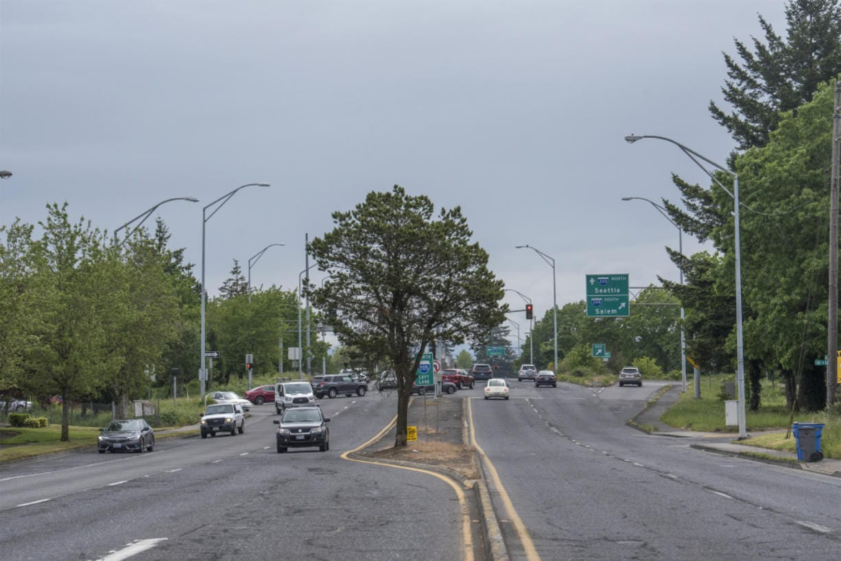 Work is expected to begin next month on a project aimed at improving traffic flow on a half-mile stretch of Mill Plain Boulevard east and west of Interstate 205. (Nathan Howard/The Columbian files)