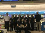 The Evergreen Plainsmen captures their fourth consecutive Class 3A bowling title Saturday, outlasting Wilson of Tacoma by 82 pins.