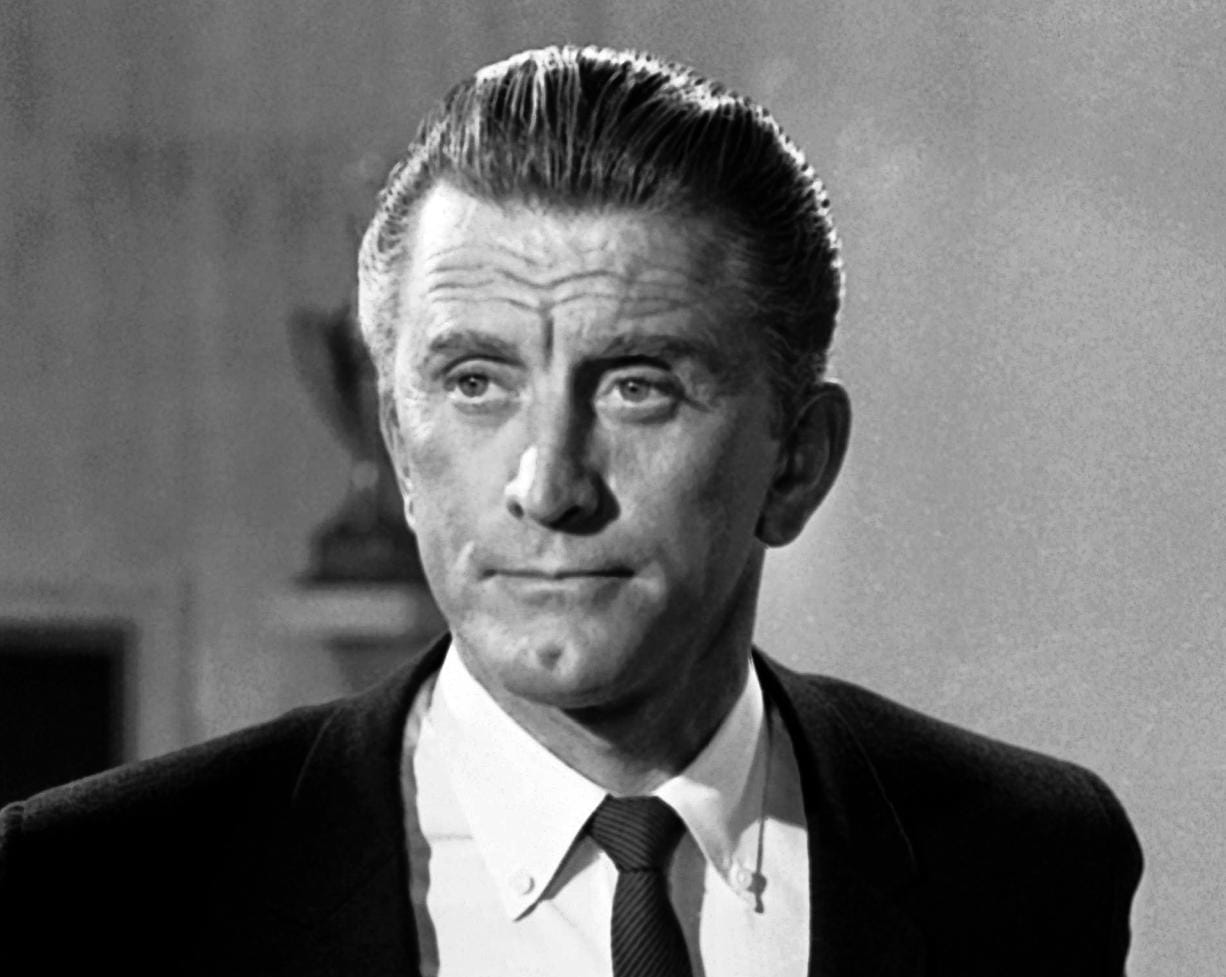 FILE - This Aug. 9, 1962 file photo shows actor Kirk Douglas in New York. Douglas died Wednesday, Feb. 5, 2020 at age 103.