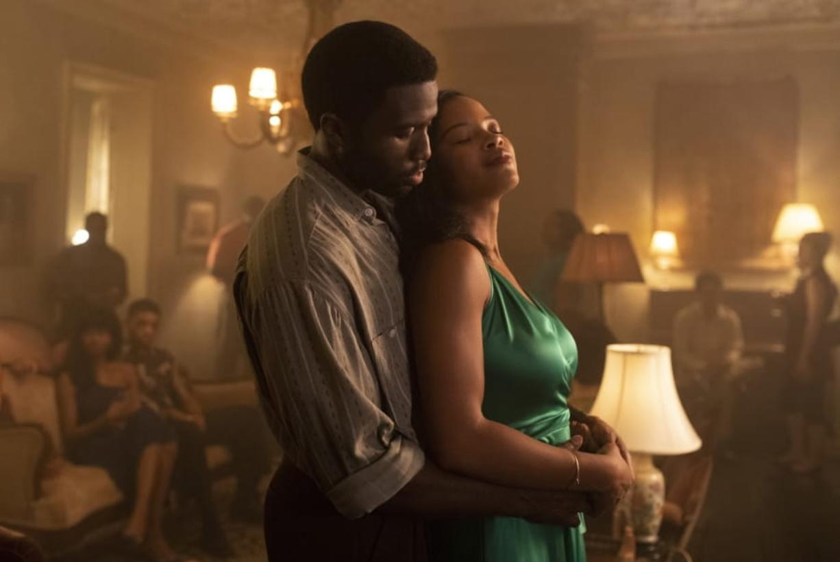 "This image released by Universal Pictures shows Y'lan Noel, left, and Chante Adams in ""The Photograph."" (Sabrina Lantos/Universal Pictures via AP) (Sabrina Lantos/Universal Pictures)"