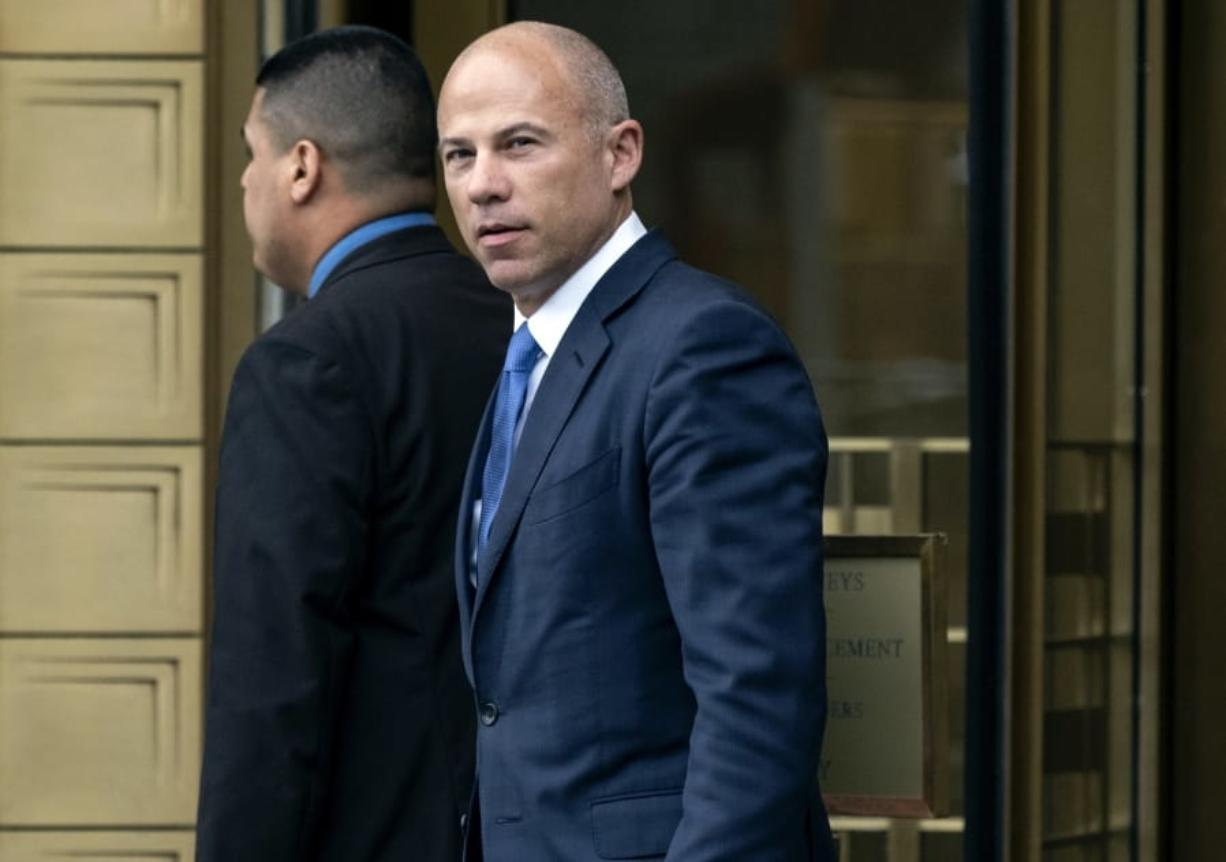 FILE - In this July 23, 2019, file photo, California attorney Michael Avenatti walks from a courthouse in New York, after facing charges. A Los Angeles amateur basketball league's founder told jurors Thursday, Feb. 6, 2020, that Avenatti betrayed him when the lawyer threatened to make his complaints against Nike public.