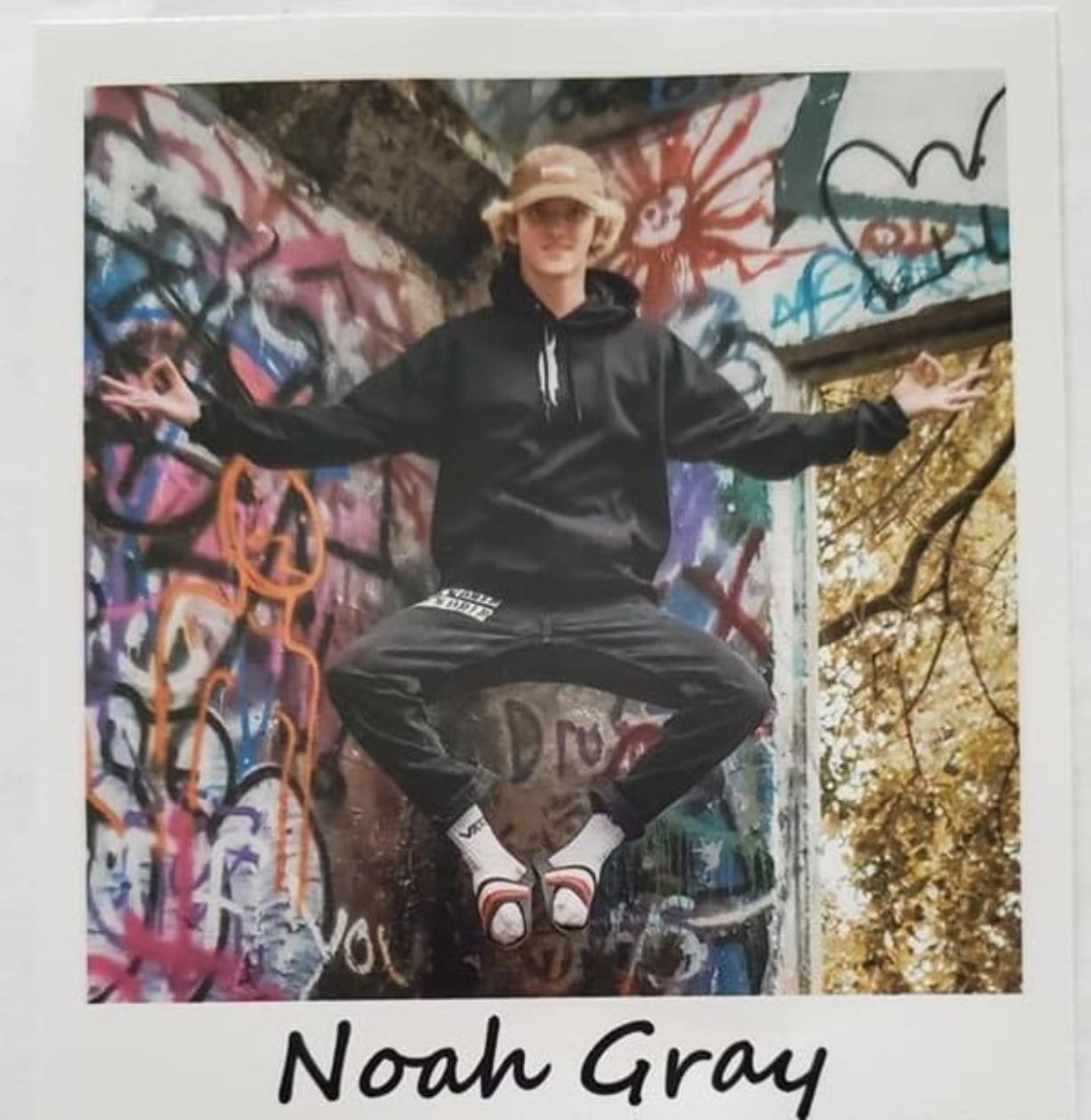 Noah Gray, 18, of Woodland, died of injuries suffered in a Feb. 2, 2020, vehicle vs. pedestrian crash near Horseshoe Lake.