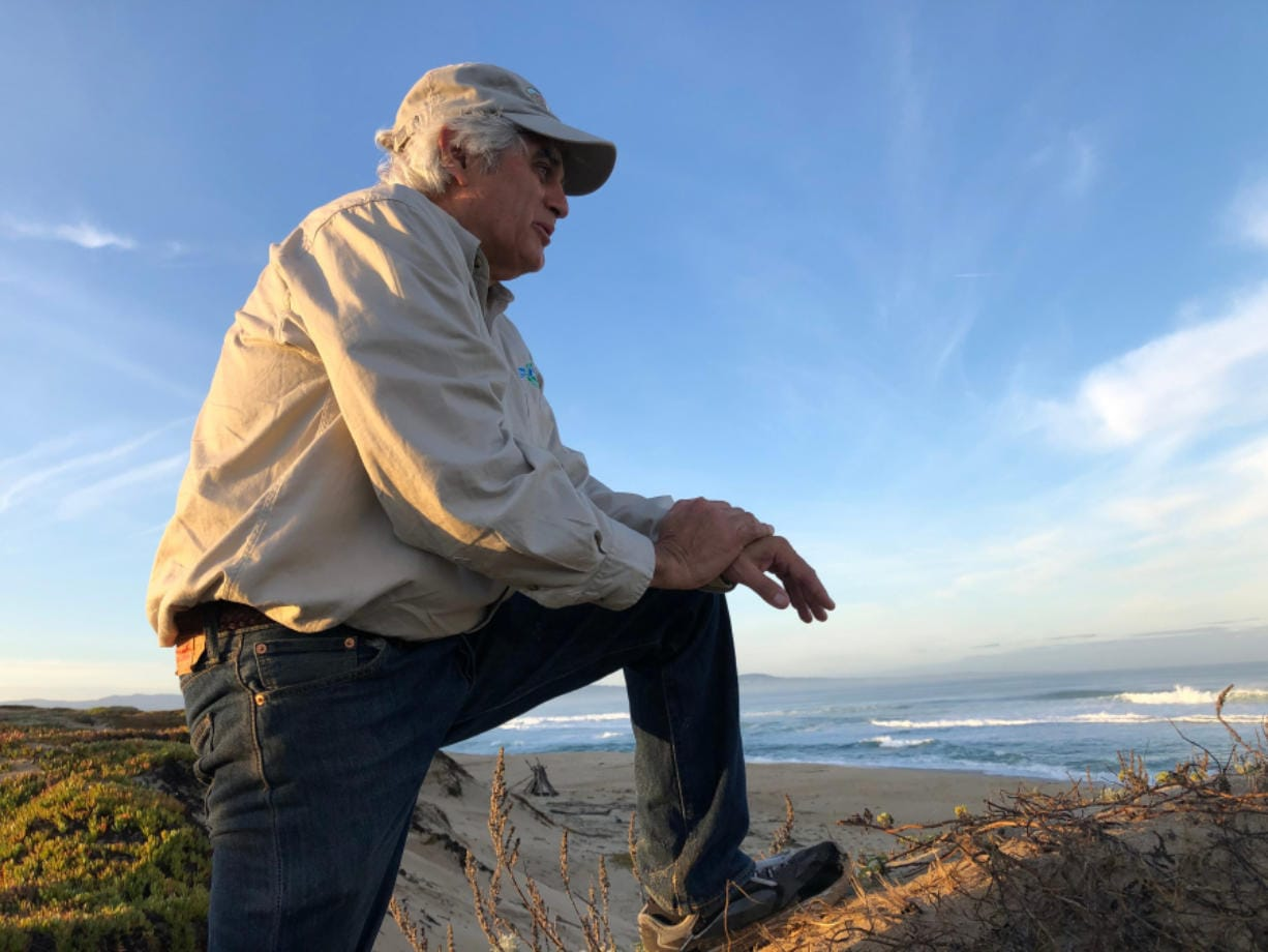 MARINA  CA  JANUARY 28, 2020 -- Bruce Delgado, the mayor of Marina, looks sandy beach that stretches for miles. Despite its name, the town of Marina has no docks or piers.