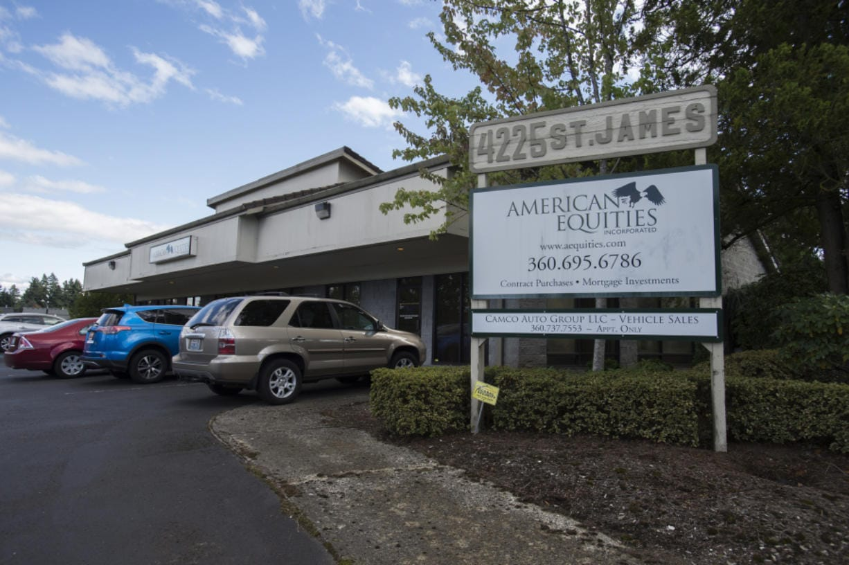 The American Equities office is pictured at 4225 Northeast St. James Road, as seen Sept. 30.