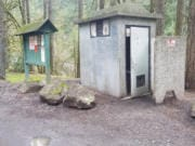 The WDFW reports vandalism and trash dumping as two of the reasons they are considering closing the Three Mile Launch. The vault toilet, which sports bullet holes in its door, has been heavily abused over the years.