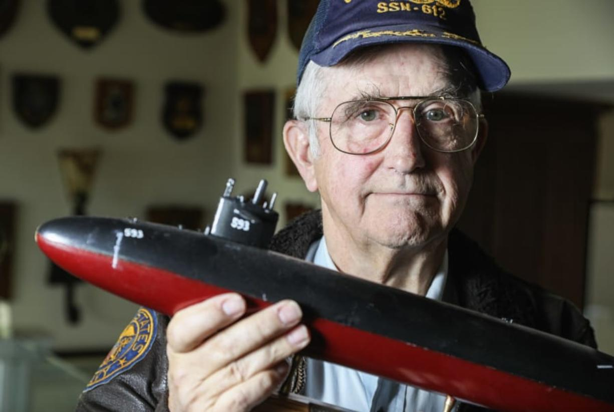 Captain Jim Bryant USN (retired) poses for photos at his Point Loma home on February 27, 2020 in San Diego, California. He is forcing the Navy to release documents from a 1963 accidental sinking of the submarine USS Thresher, the worst accident in Navy sub history.