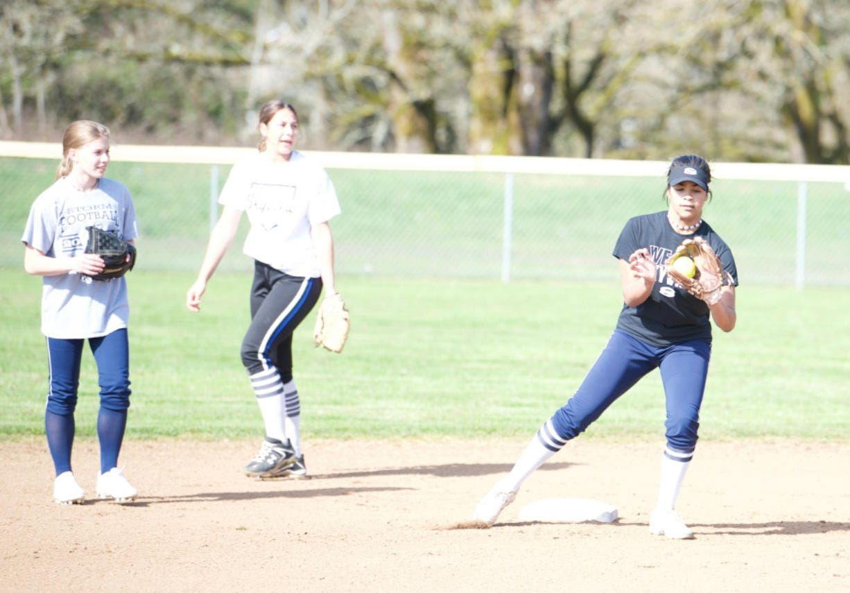 Micah Rice/The Columbian   Mikelle Anthony plays in the middle infield, whether at second base or shortstop for the Skyview softball team. (Micah Rice/The Columbian)