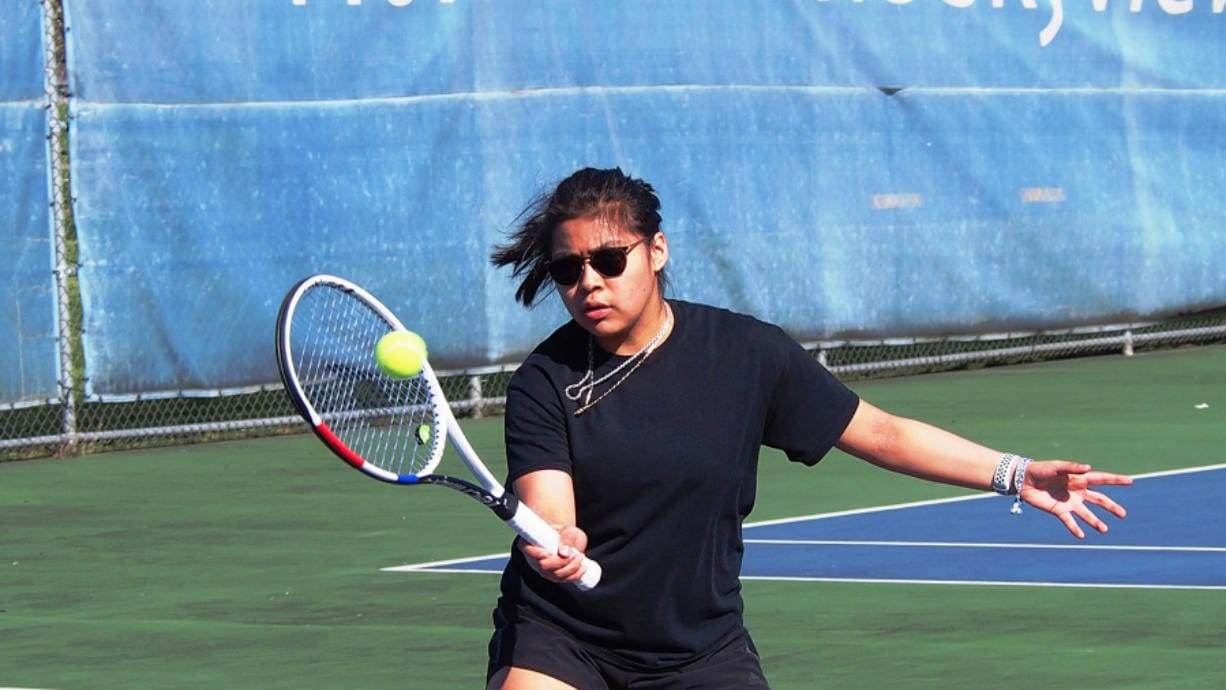 Skyview sophomore Leilani Gonzalez lost just two matches in the 2019 season and qualified for the 4A state tournament. However, she didn't make the trip because of bigger plans. (Jeff Klein/The Columbian)
