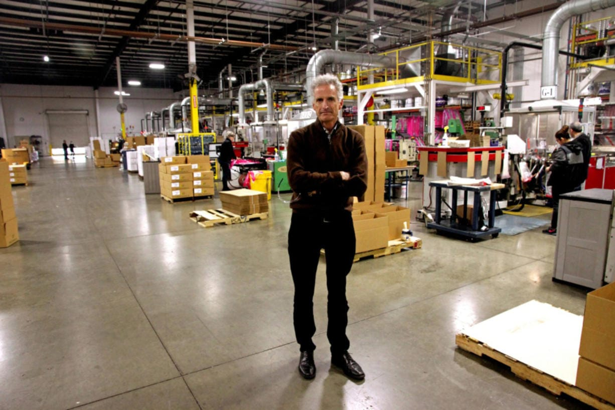 Kevin Kelly, Emerald Packaging's chief executive officer, on the factory floor on March 24, 2020.