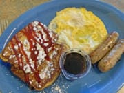 French Toast Combo at Kitchen Table Cafe.