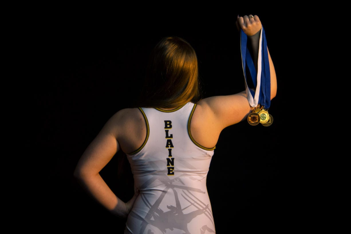 All-Region girls wrestler of the year, Hudson's Bay senior Allison Blaine is pictured in Vancouver on March 3, 2020.