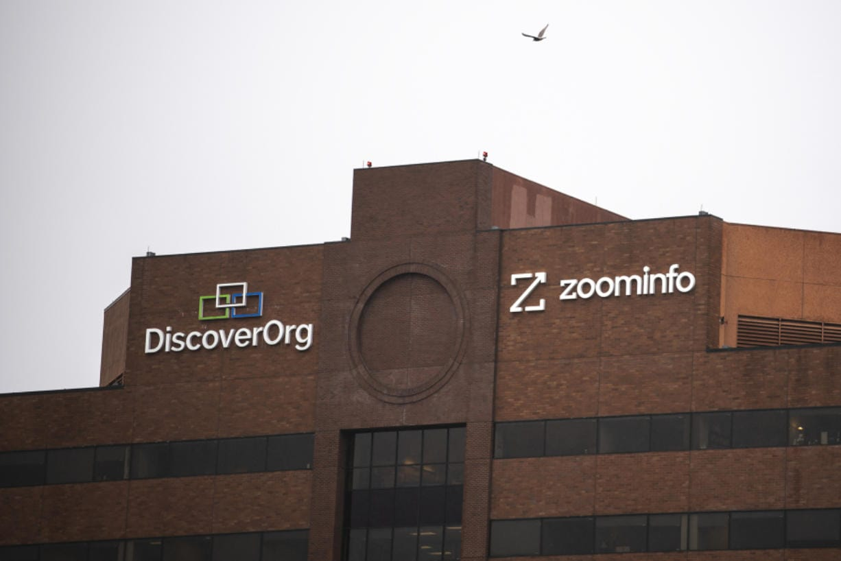 ZoomInfo is headquarted in the 805 Broadway building in Vancouver. The business-intelligence company was founded as DiscoverOrg but acquired competitor Zoom Information last year and adopted the ZoomInfo name for the combined company.