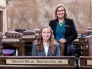 BRUSH PRAIRIE: Prairie High School student Carley Postma recently served as a page at the Washington State House of Representatives in Olympia.
