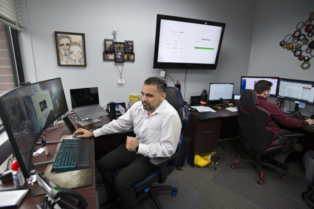 """Danny Tehrani, engineer and CEO at Computers Made Easy Inc., started his business in 1995 after working for 12 years at Costco. """"It took about seven years to fully let go of Costco in 2002,"""" Tehrani said. """"In 2004, I hired my first employee, Mike Schilpp. He's still with us. Back in the day, we were just helping a lot of home users. We evolved into a management service provider."""