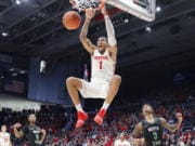 Dayton's Obi Toppin (1) is the lone unanimous first-team choice to The Associated Press men's college basketball All-America team, Friday, March 20, 2020.