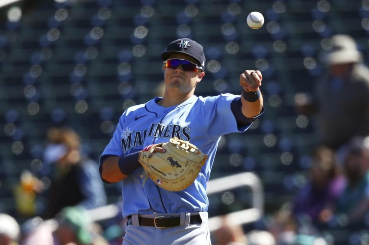 The Seattle Mariners are counting on highly touted prospect Evan White to be their first baseman this year and well into the future. (Ross D.