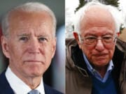 Democratic presidential primary results in Washington were too close to call Tuesday night, with Joe Biden and Bernie Sanders essentially tied.