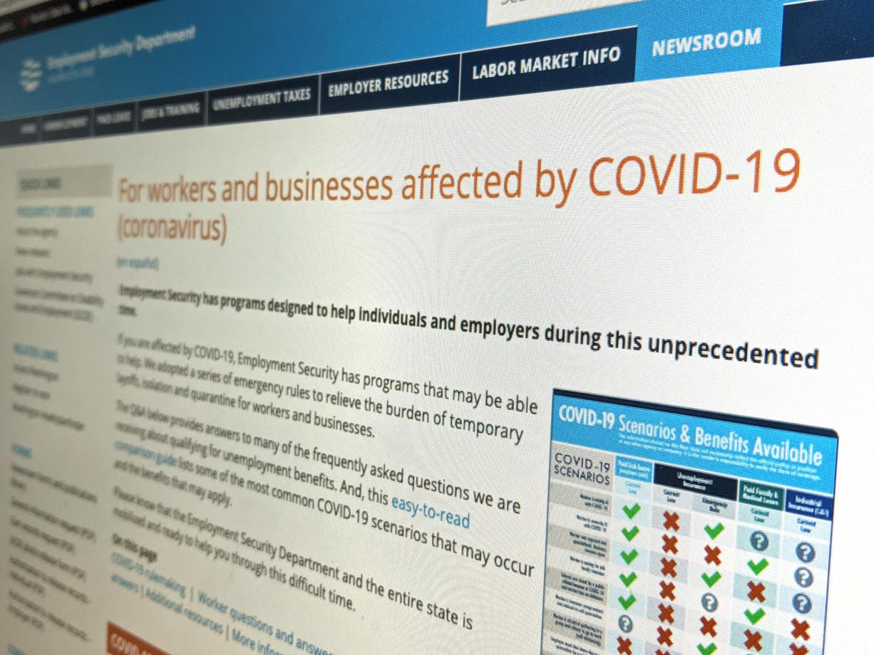 The Washington Employment Security Department has a page on its website dedicated to those who have lost hours or wages due to COVID-19.