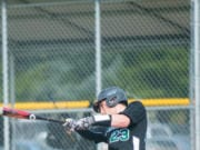 Evergreen senior Carter Monda takes a swing.