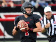 Central Washington quarterback Canon Racanelli is making the change from offense to defense for the 2020 season, moving to defensive back.