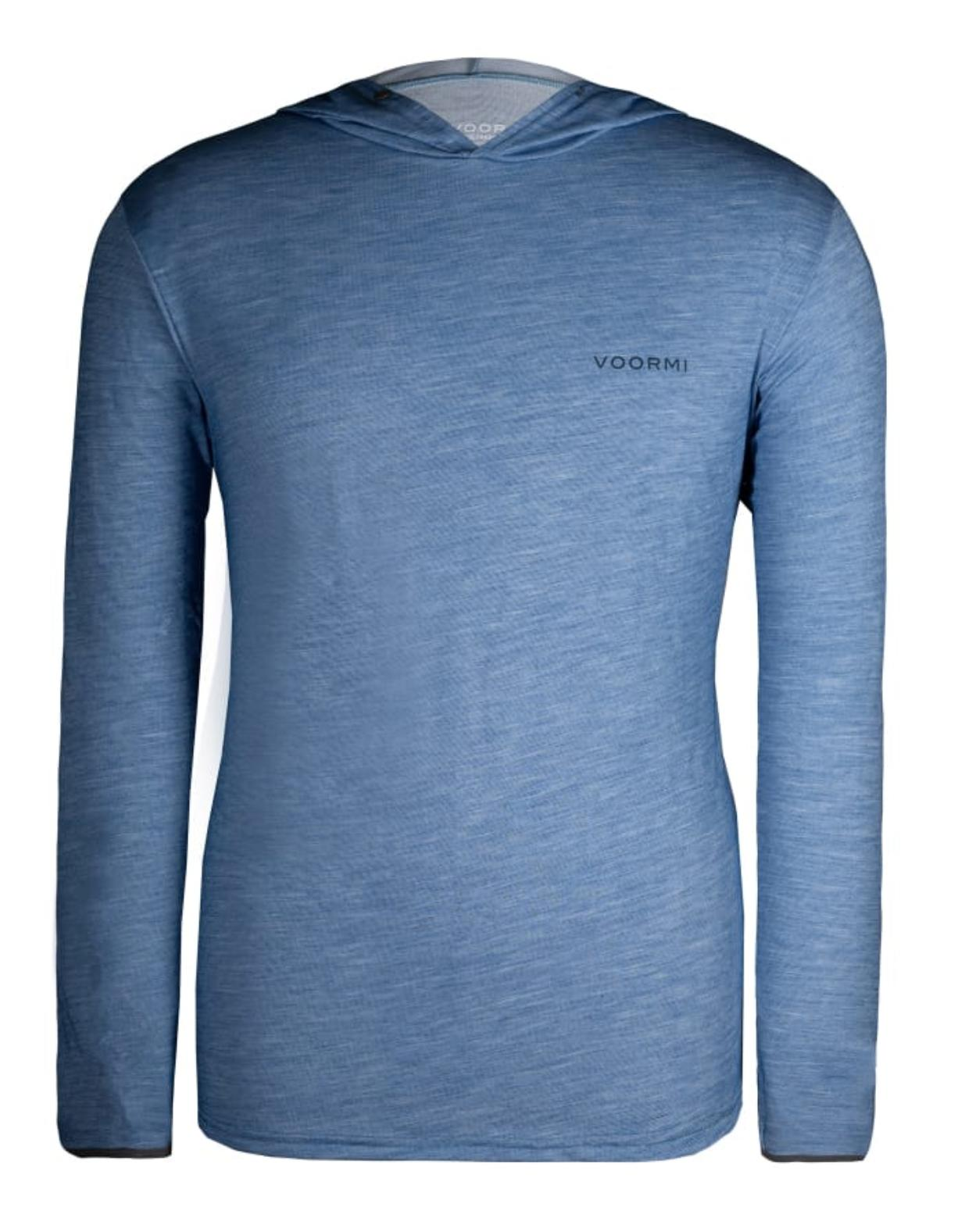 The River Run Hoodie from Voormi specializes in lightweight outdoor apparel made with wool blends.