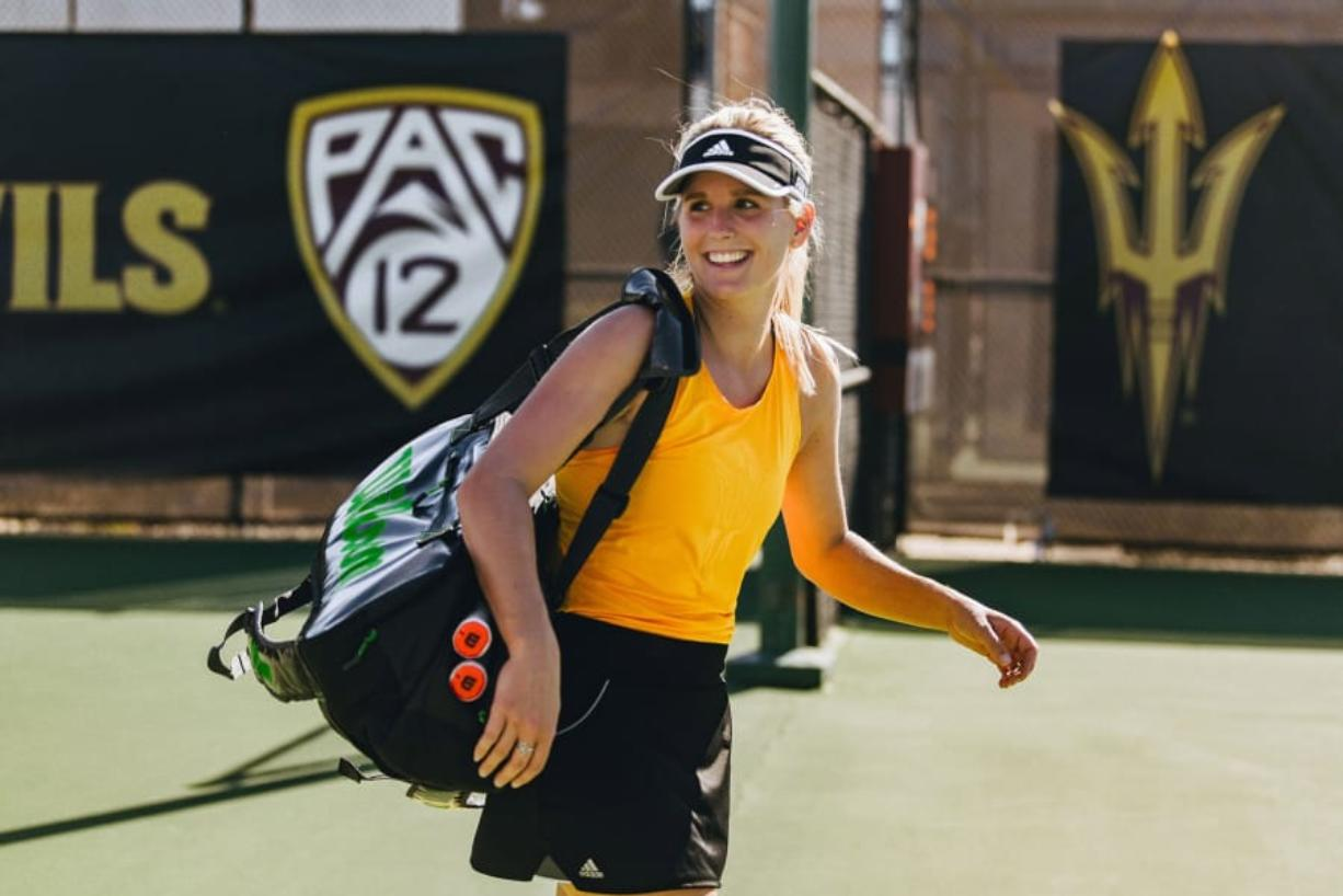 Arizona State redshirt senior Sammi Hampton, a graduate of Skyview High School, finished the abbreviated spring tennis season with six wins in a row.