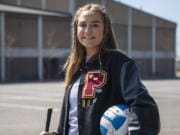 Prairie High School senior Amelia Renner is pictured at the school in Vancouver on Wednesday April 8, 2020.