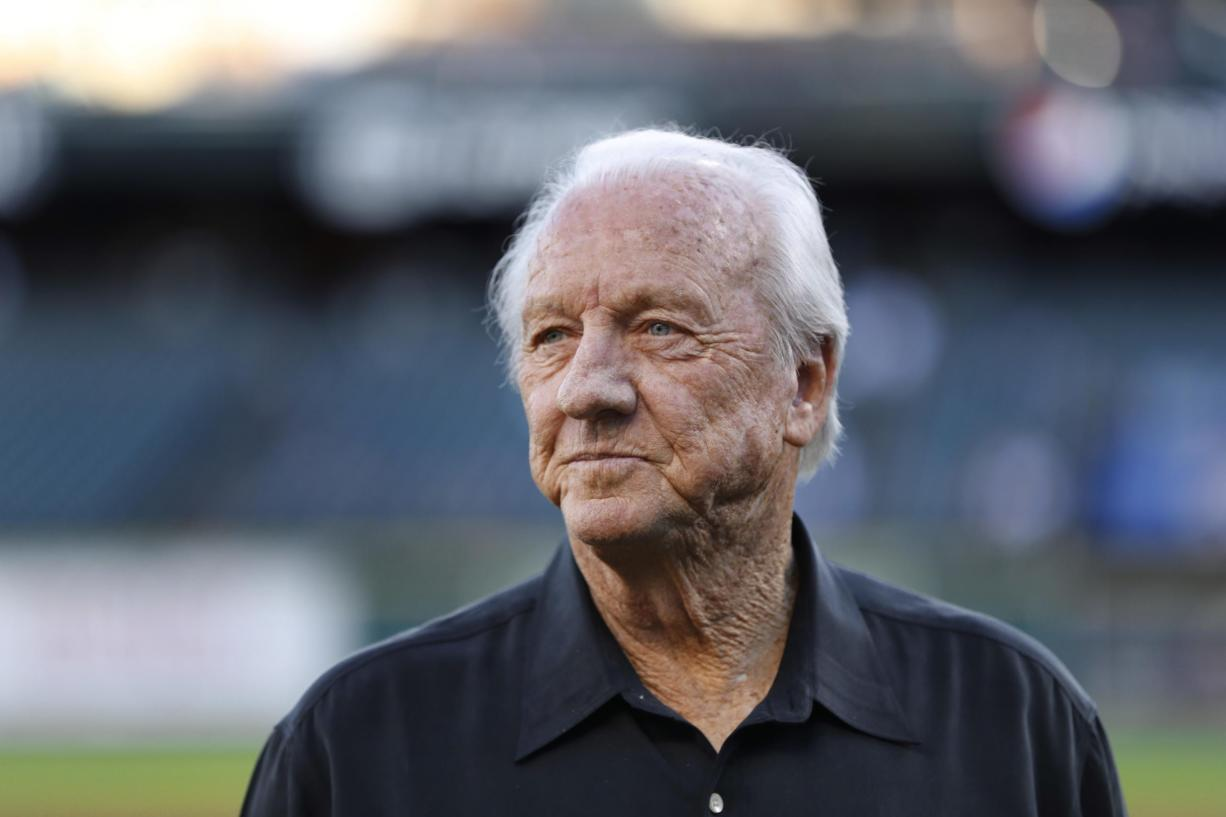 """Al Kaline, Hall of Fame player and Detroit Tigers special assistant to the general manager pictured here in 2006, has died. He became the youngest player to win the American League batting title in 1955 and was a 15-time All-Star. Known as """"Mr. Tiger,"""" Kaline also won 10 Gold Gloves and after his playing career ended was a Tigers broadcaster for a quarter-century. Kaline was 85."""