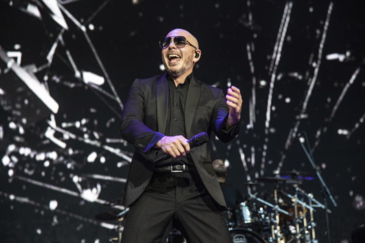 """Pitbull performs May 12 at KAABOO Texas in Arlington, Texas. Pitbull released a new song titled """"I Believe That We Will Win"""" hoping to uplift his fans during the coronavirus pandemic."""