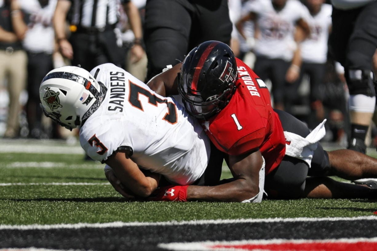 The Seattle Seahawks selected Texas Tech linebacker Jordyn Brooks (1) in the first round of the NFL draft Thursday, April 23, 2020.