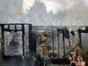 Clark County Fire & Rescue Clark County Fire & Rescue units were dispatched at 2:26 p.m. to the report of trees on fire on Northwest Jenny Creek Road, north of La Center to find a fully involved manufactured home.
