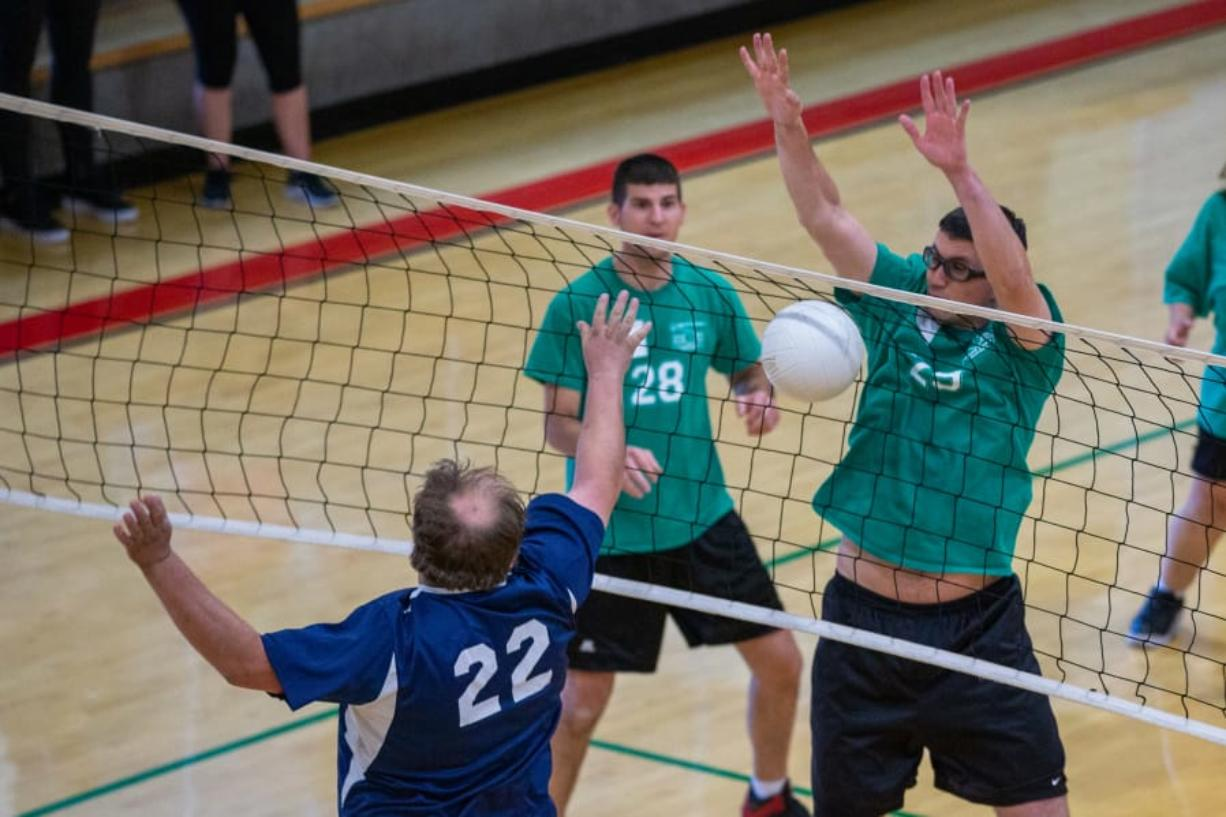 Volleyball players compete in a Special Olympics Oregon regional event last fall. The nonprofit has received the first of three $100,000 annual donations from the Vancouver-based Kuni Foundation.