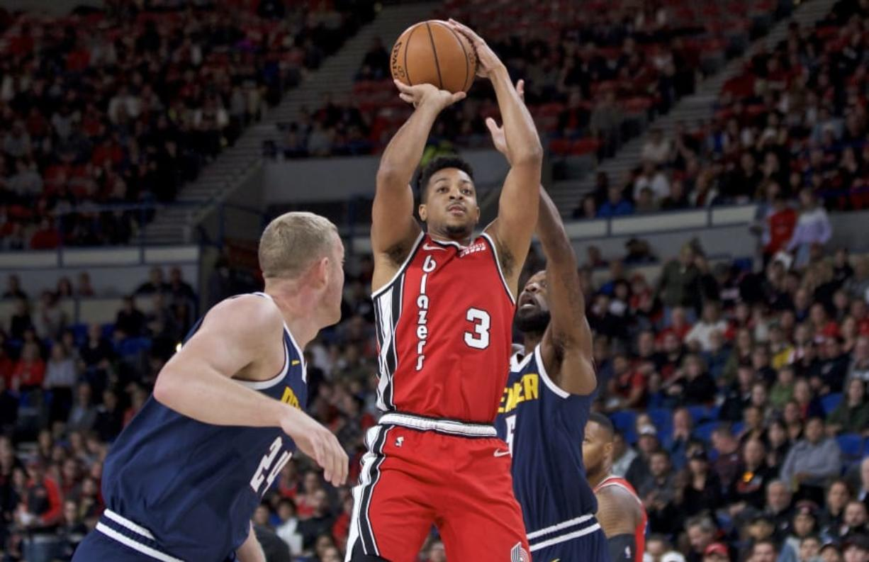 Portland Trail Blazers guard CJ McCollum (3) told Yahoo Sports on Thursday, May 7, 2020, that he is taking a cautious approach to the NBA reopening team practice facilities on Friday.